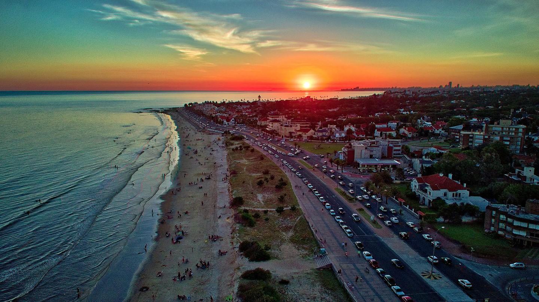 Stunning sunset from Carrasco neighborhood