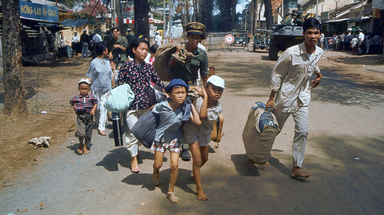 A family flees Saigon (now Ho Chi Minh City), 1968