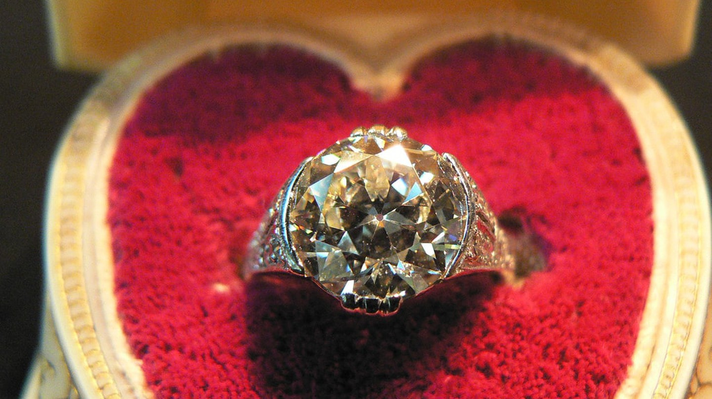 A diamond engagement ring
