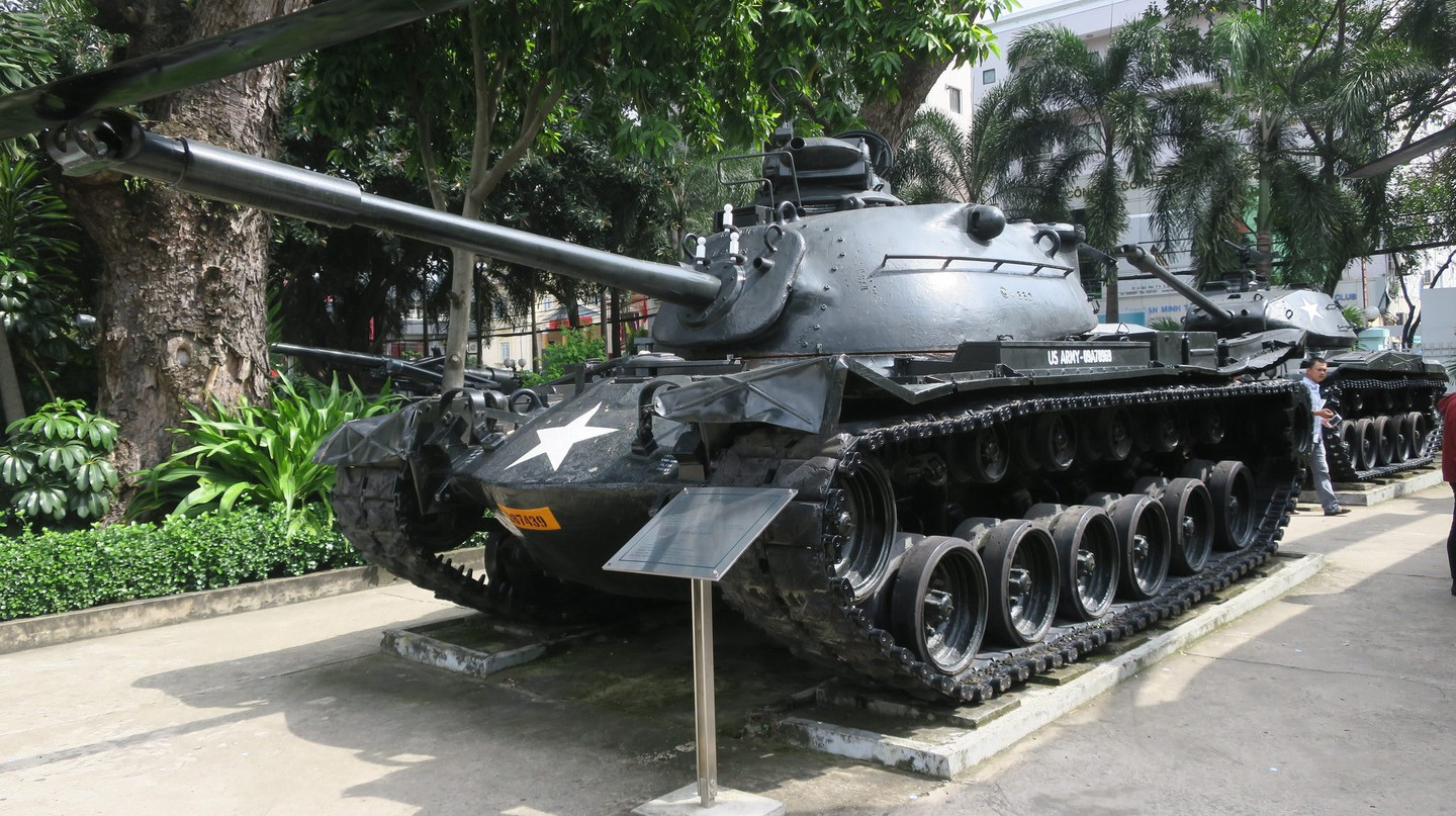 American tank at the War Remnants Museum in Ho Chi Minh City, Vietnam
