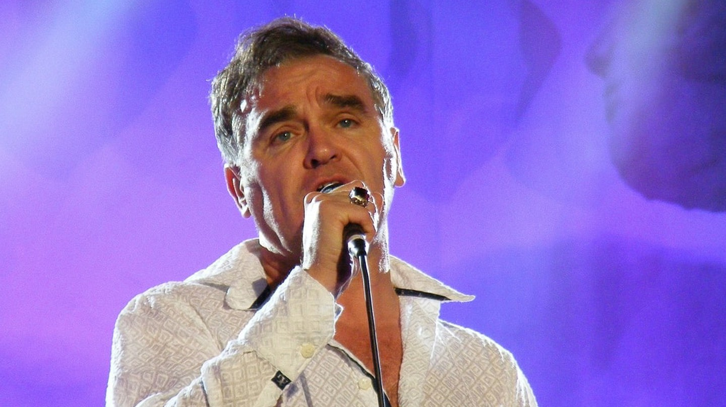 Morrissey performing at the Hop Farm Music Festival in 2011