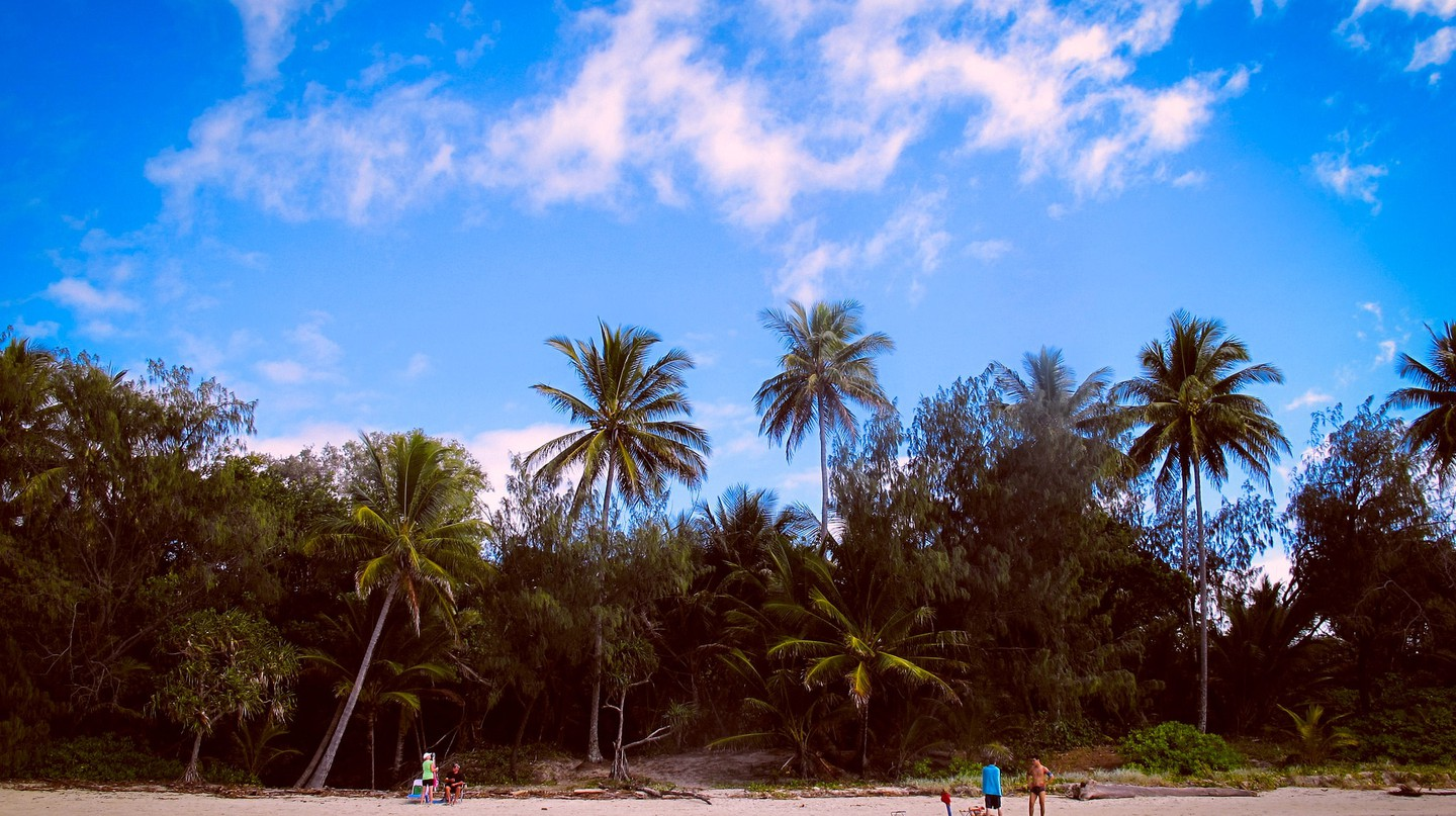 Relaxing on the beach in Port Douglas