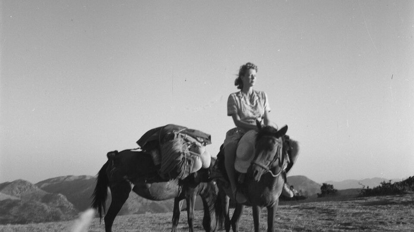 Joan Leigh Fermor on horseback