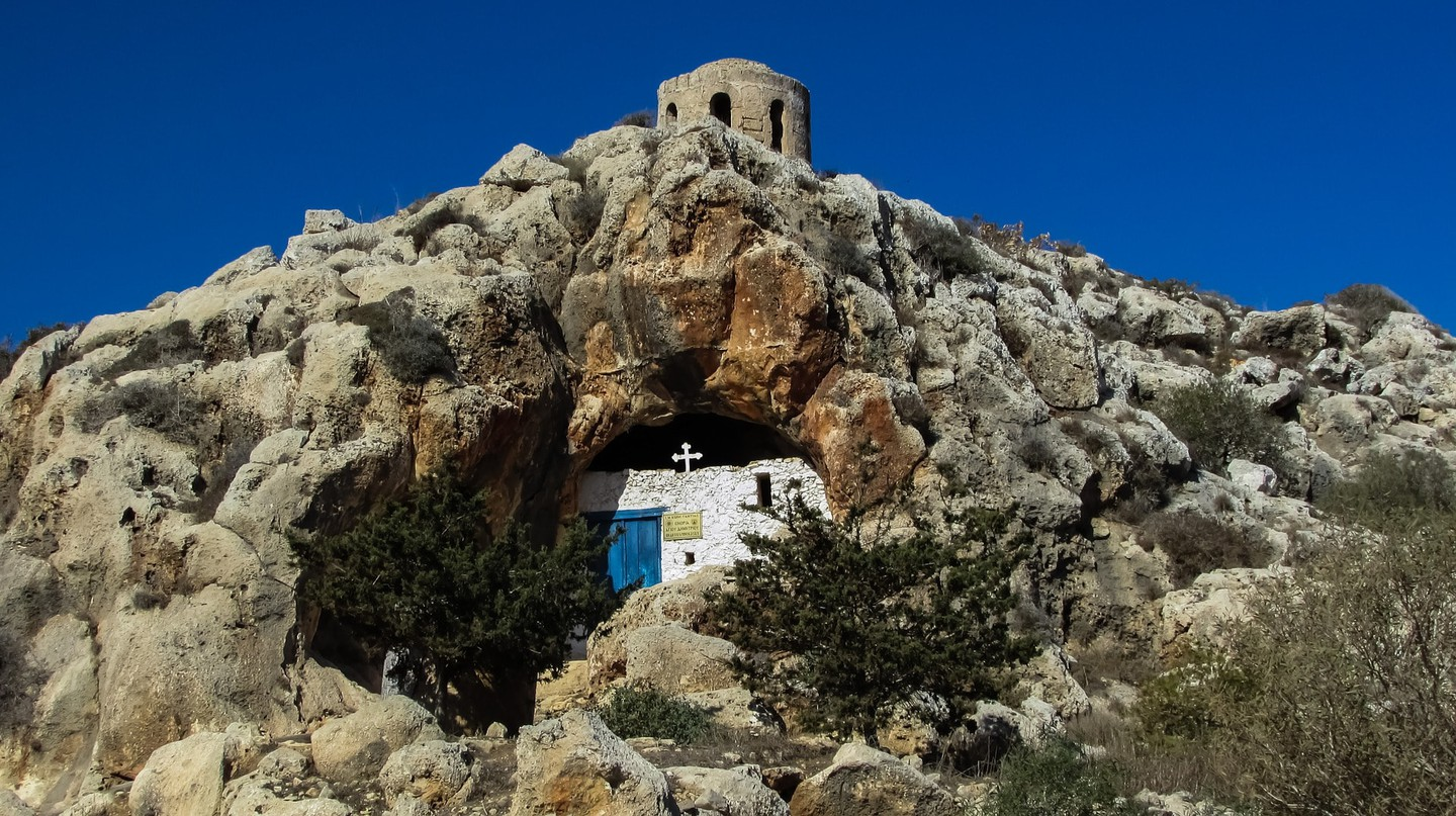 The hidden cave church of Ayioi Saranta in the Protaras rocks