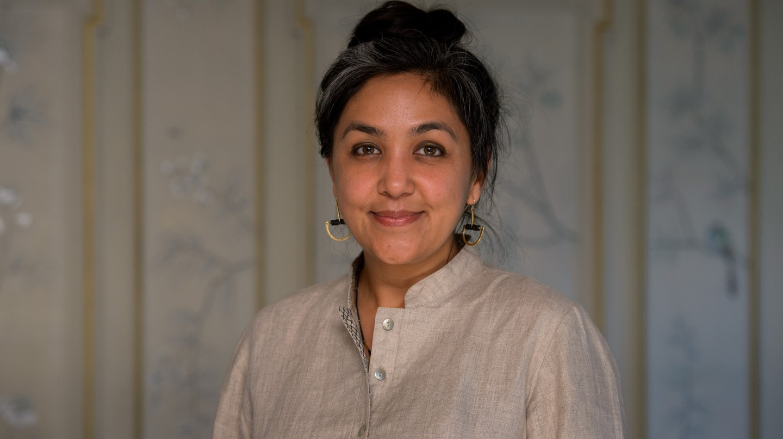 Preti Taneja at the 2018 Desmond Elliott Prize ceremony at Fortnum and Mason in London.