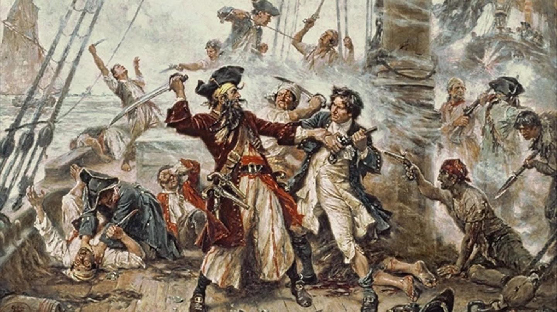 Capture of the Pirate, Blackbeard, 1718 (1920)