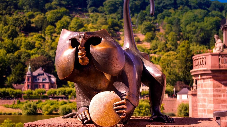 Heidelberg bridge monkey