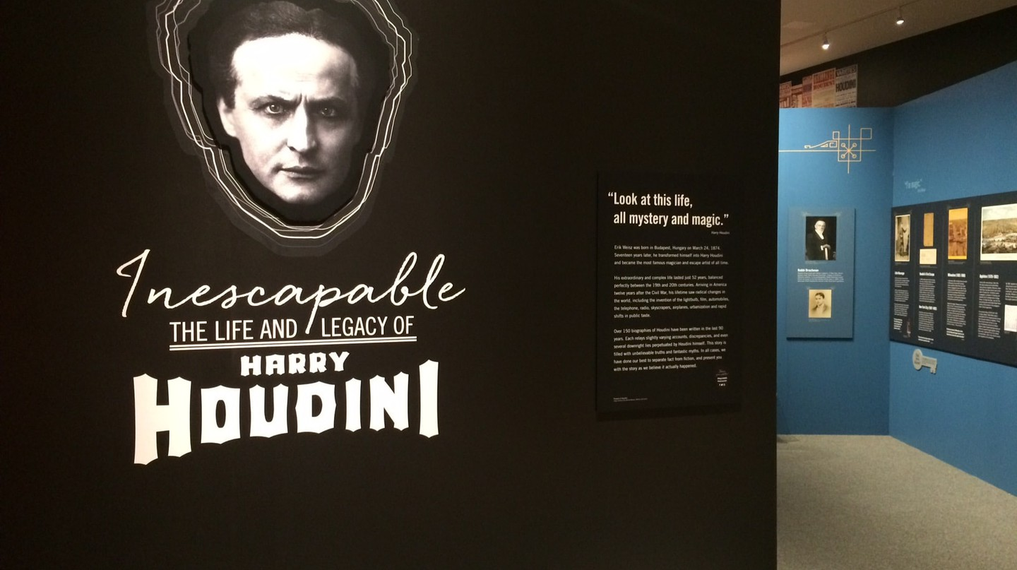 """Entrance of """"Inescapable: The Life and Legacy of Harry Houdini"""" at JMM"""