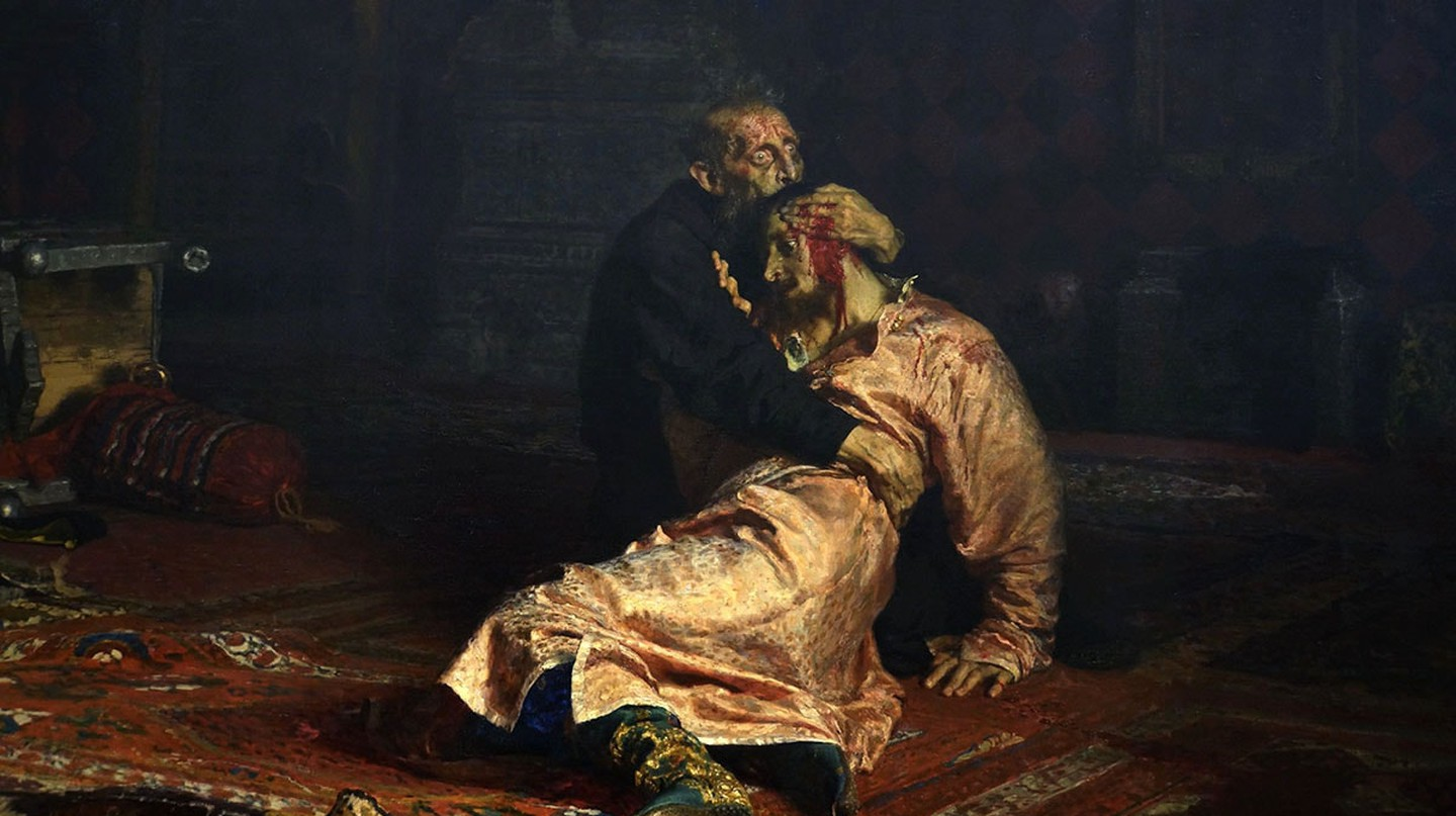 'Ivan the Terrible and His Son Ivan on November 16th, 1581' by Ilya Repin