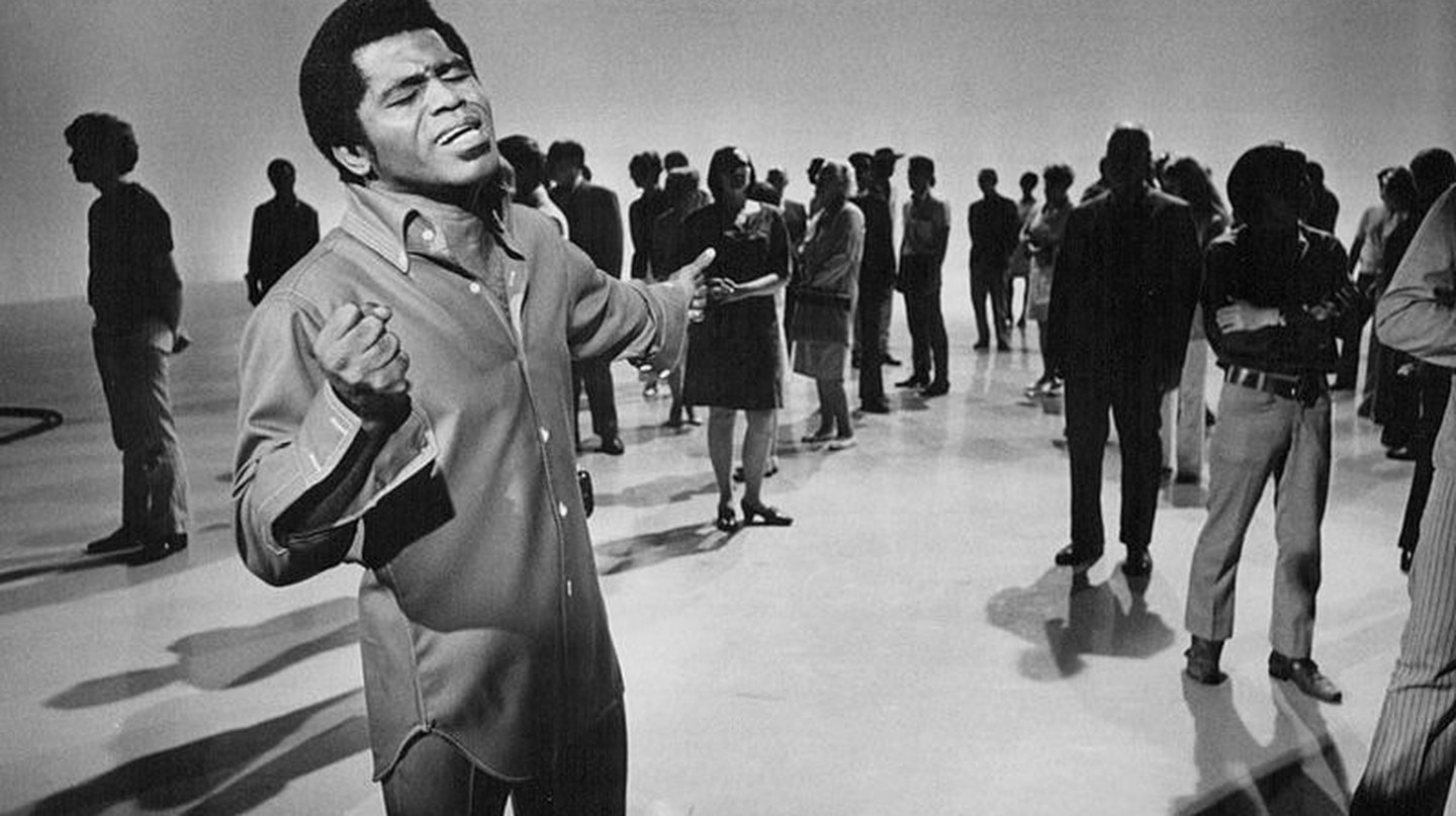 James Brown in performance in 1969