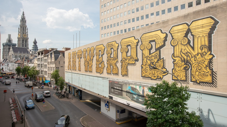 A Baroque mural by Antwerp graffiti artist RiseOne