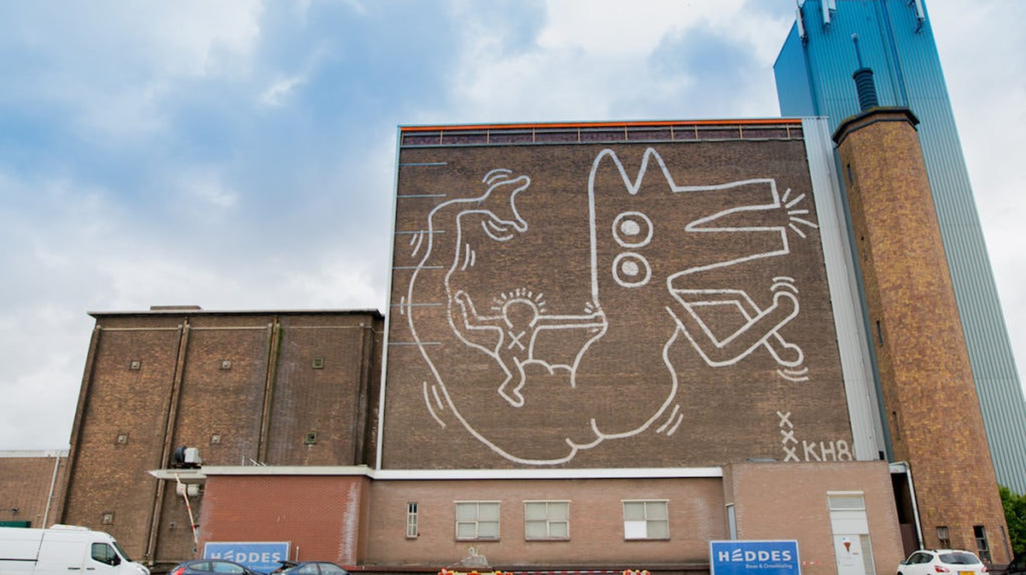 Keith Haring mural unveiled in Amsterdam