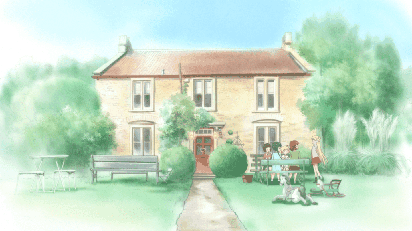 The guesthouse based on Fosse Farmhouse, as seen in 'Kinmoza'.