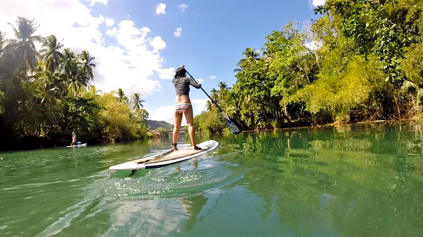 Paddle boarding in Bohol