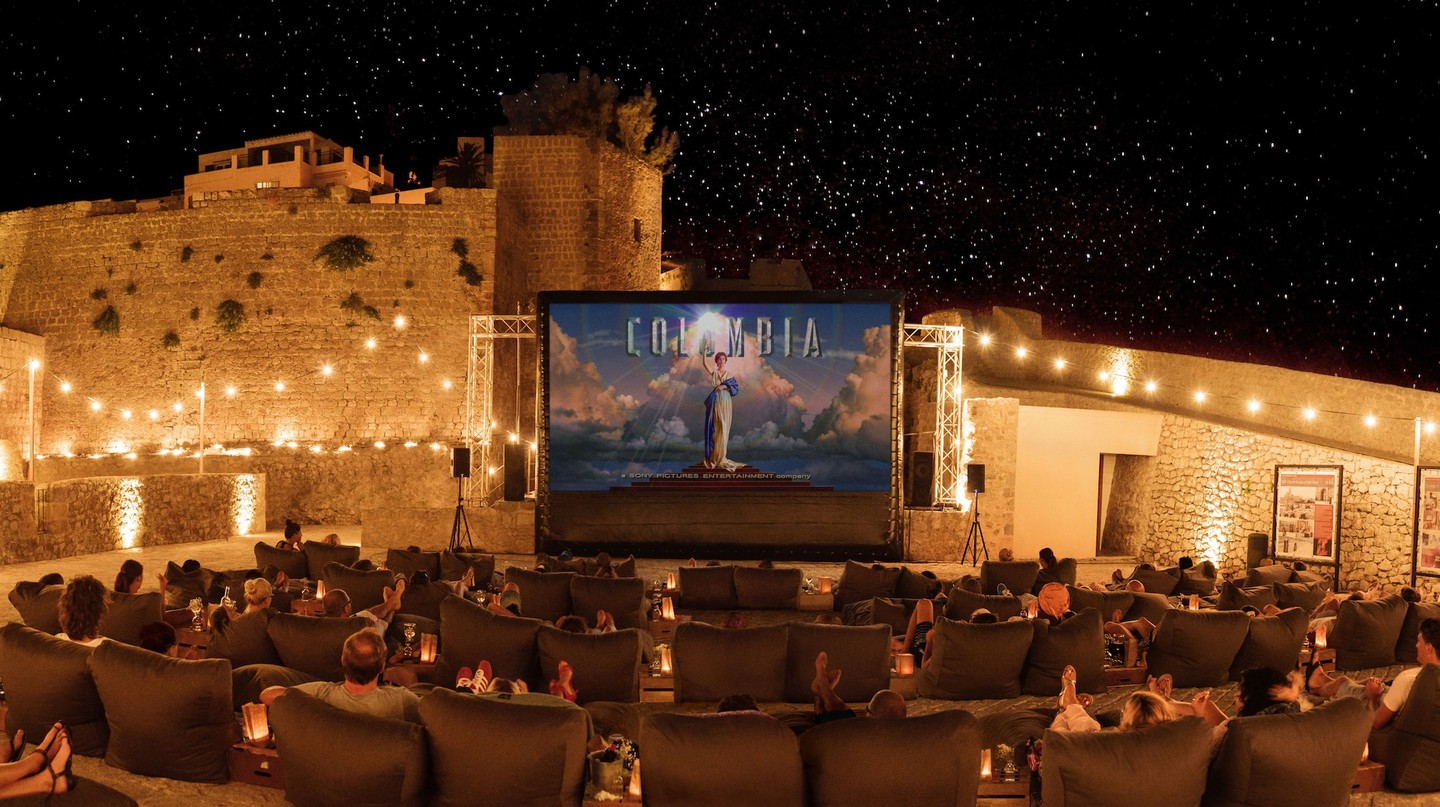 Outdoor cinema at Dalt Vila