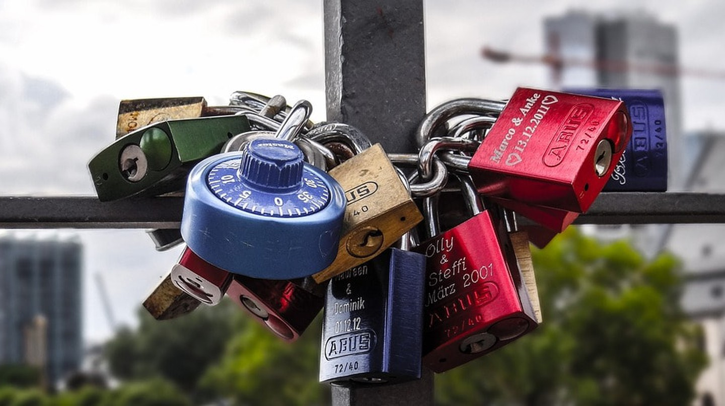 Padlocks on Eiserner Steg
