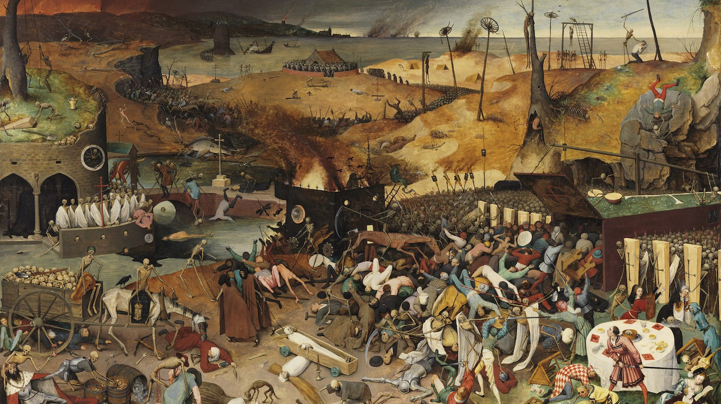The Triumph of Death (1562-1563) by Pieter Bruegel the Elder after restoration