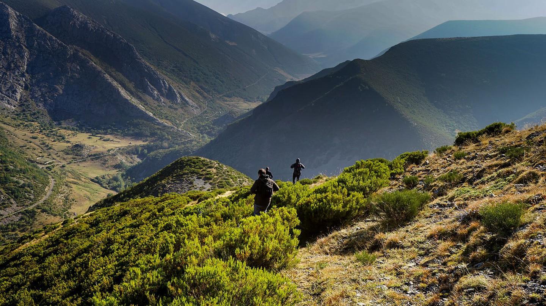 Hiking through the Picos de Europa in Spain