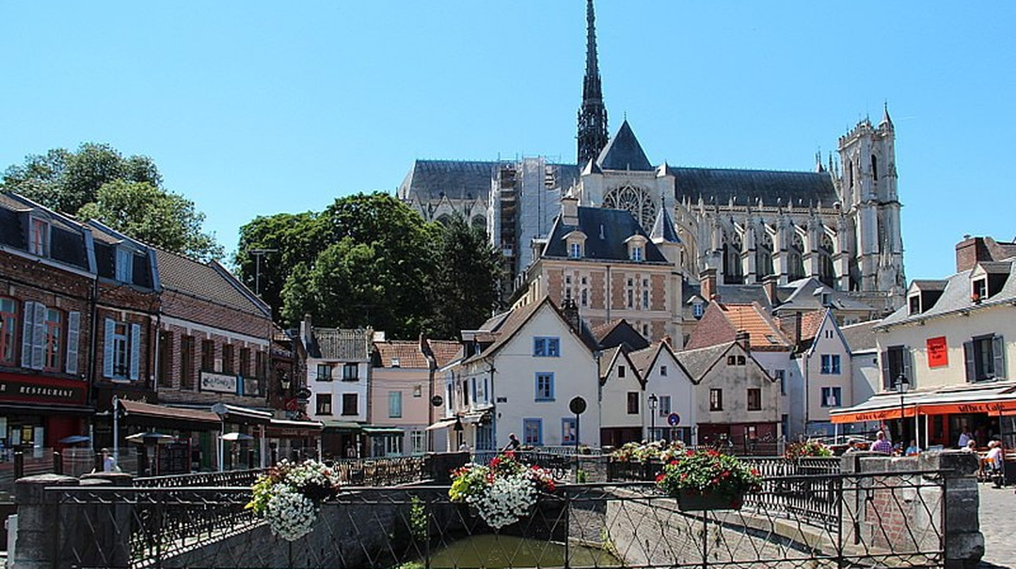 View of Amiens from the Place du Don