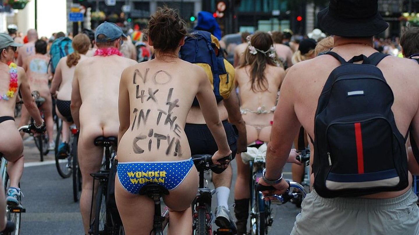 The Portland World Naked Bike Ride is just one of nearly 100 worldwide