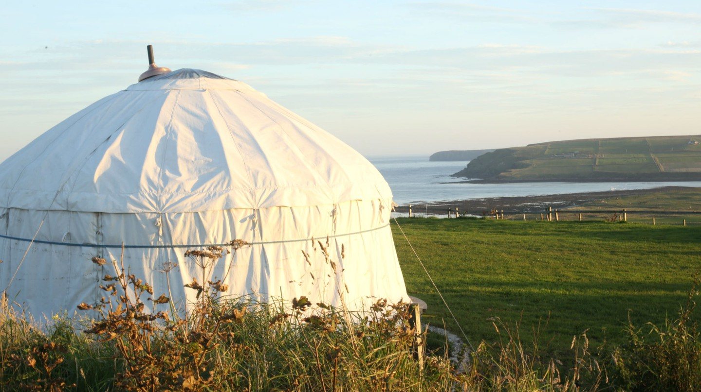 Wheems Organic Farm Camping Pods and Camping, Orkney