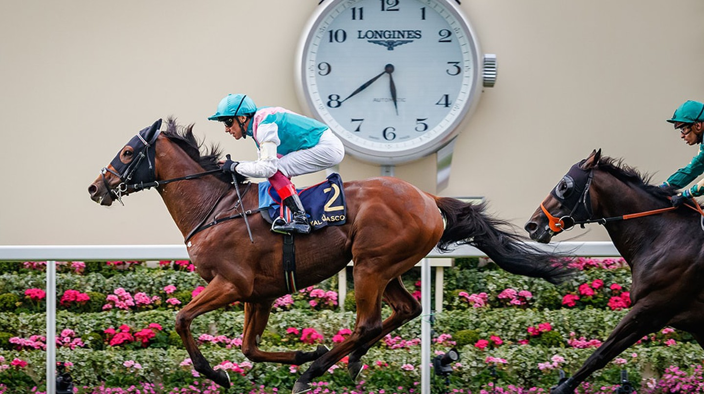Monarchs Glen (Frankie Dettori) wins The Wolferton Stakes Listed at Royal Ascot, Horse Racing, 19 June 2018