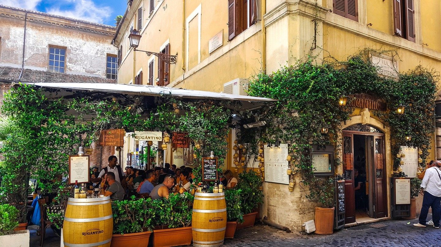 Rome's Trastevere neighbourhood