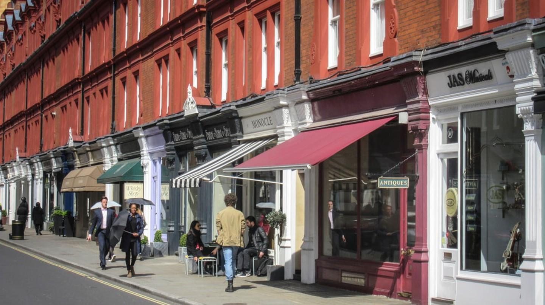 Chiltern Street in Marylebone, London