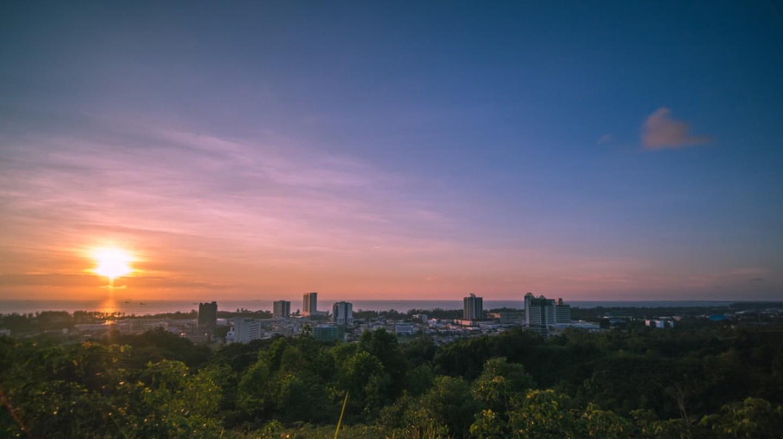 Beautiful sunset from Canada Hill, Miri