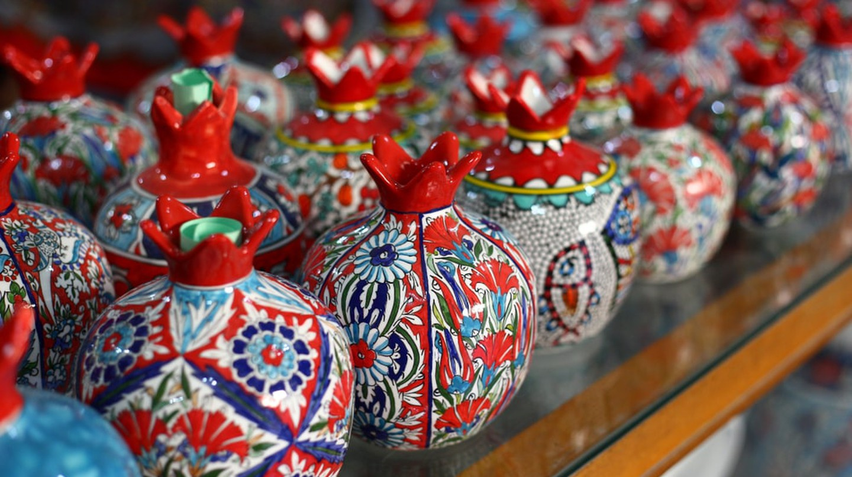 Handmade Armenian ceramic pomegranates