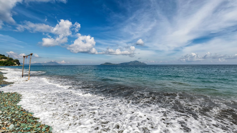 Blue Stone Beach in East Nusa Tenggara, Indonesia