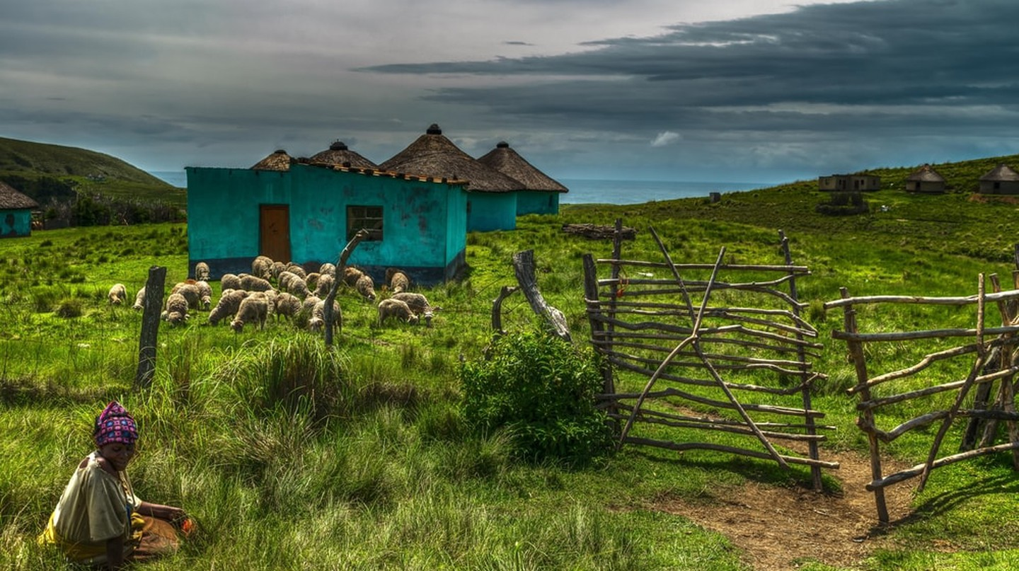 Traditional homes in the Wild Coast