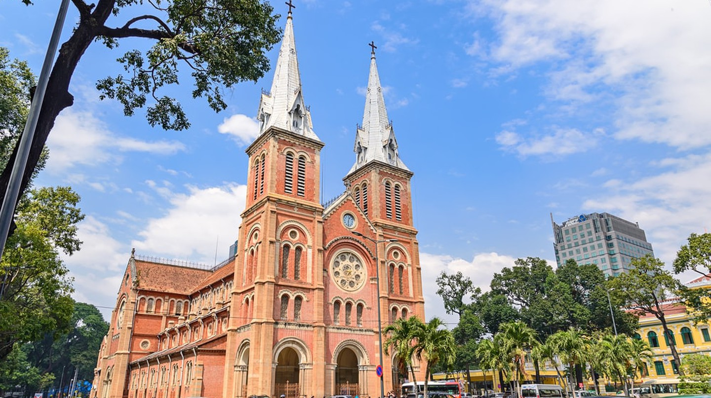 Saigon Notre-Dame Cathedral Basilica (Basilica of Our Lady of The Immaculate Conception) in Ho Chi Minh City