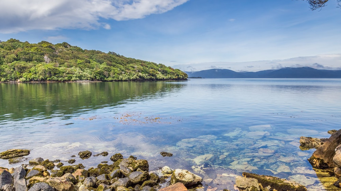 Halfmoon Bay is home to Stewart Island's only town, Oban