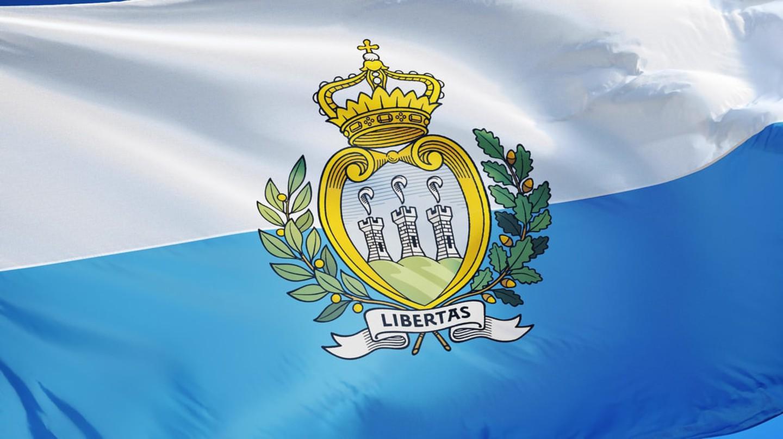 The Republic of San Marino flag