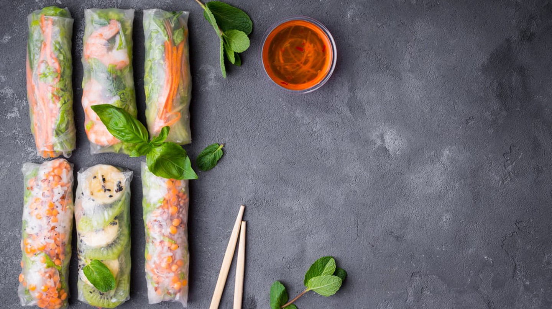 Delicious Vietnamese summer rolls