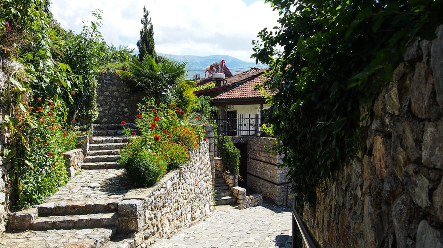 The beautiful streets of Ohrid, Macedonia