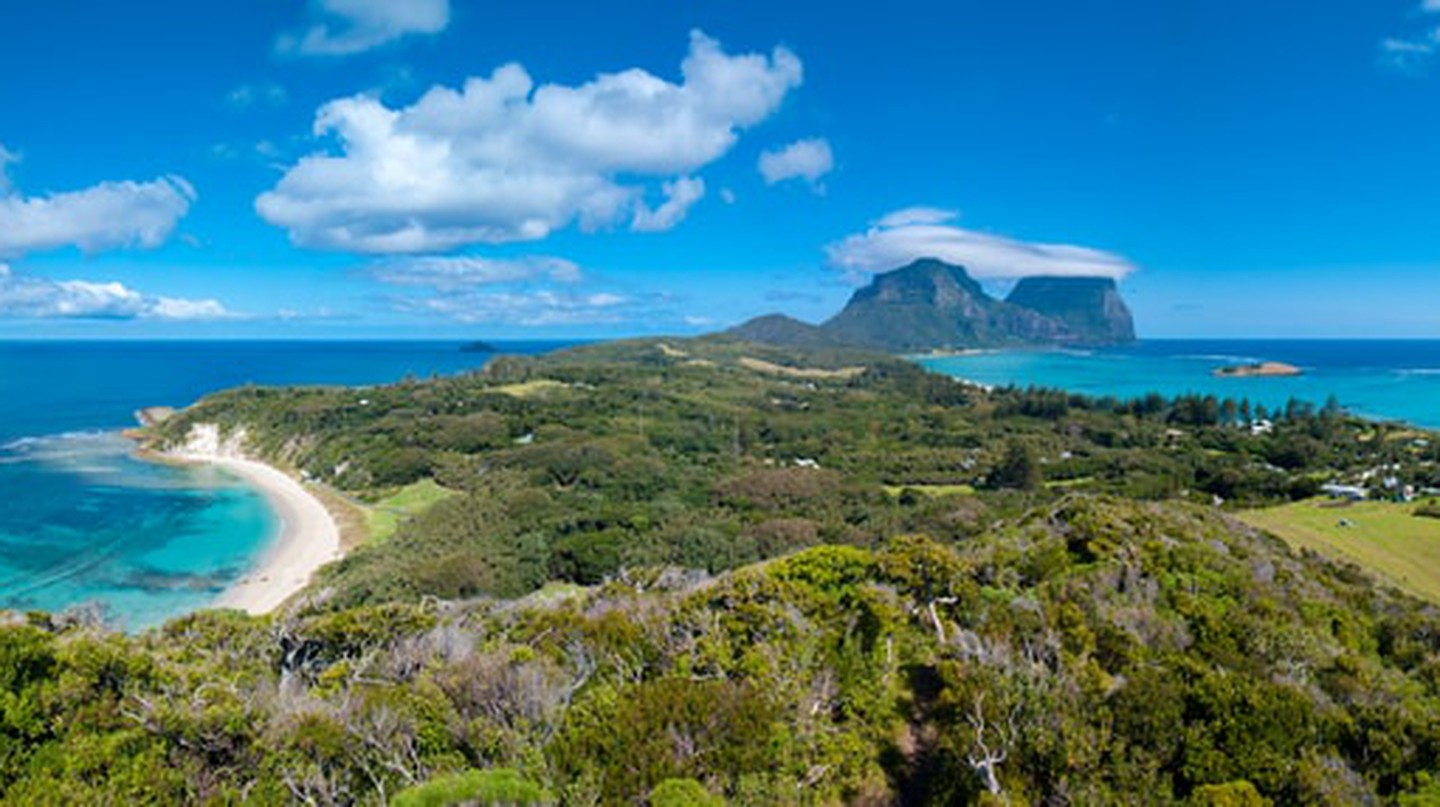 The stunning view of Lord Howe Island from Malabar cliffs