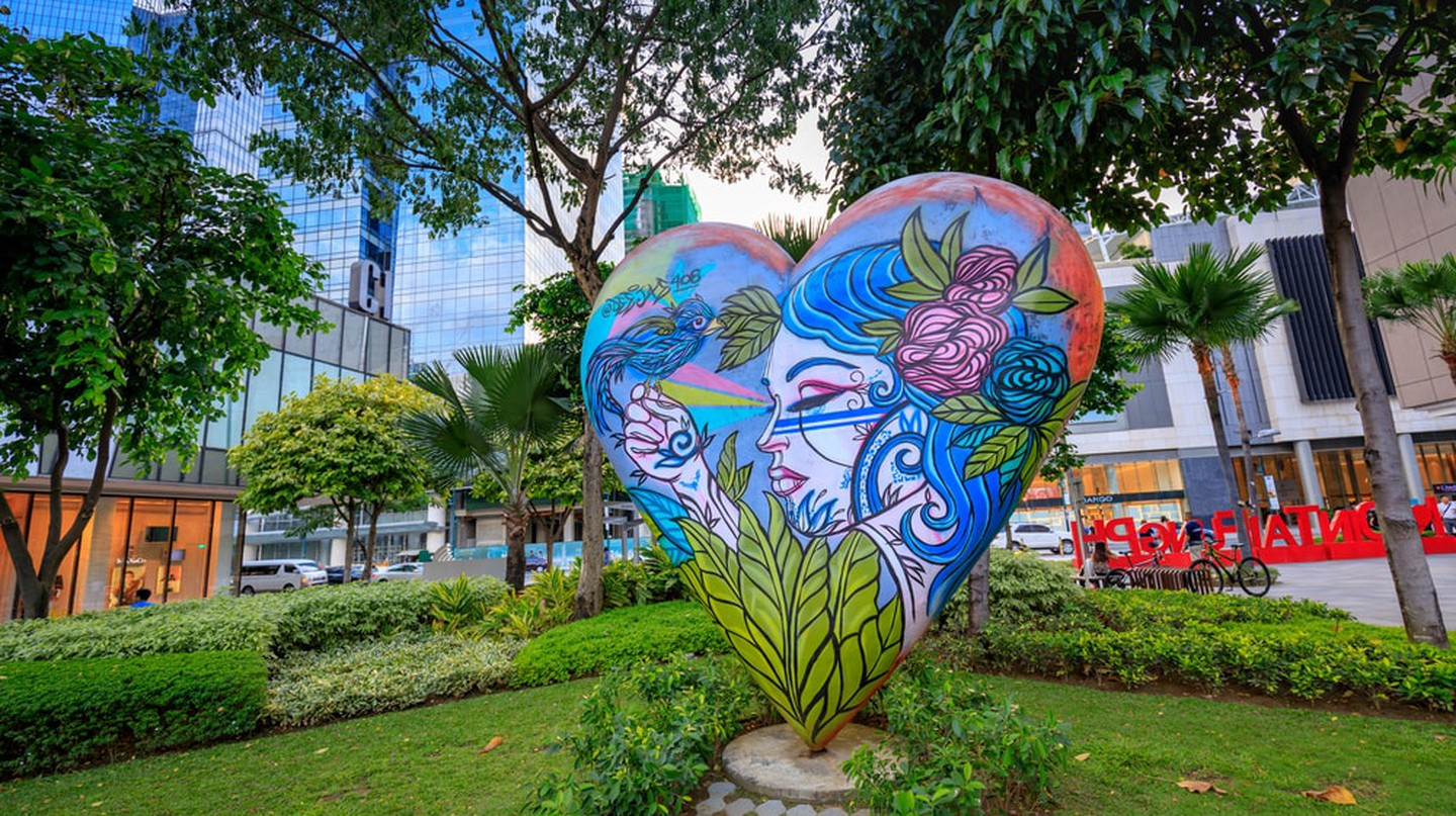 Street art of High street at Bonifacio Global City in Taguig, Metro Manila, Philippines