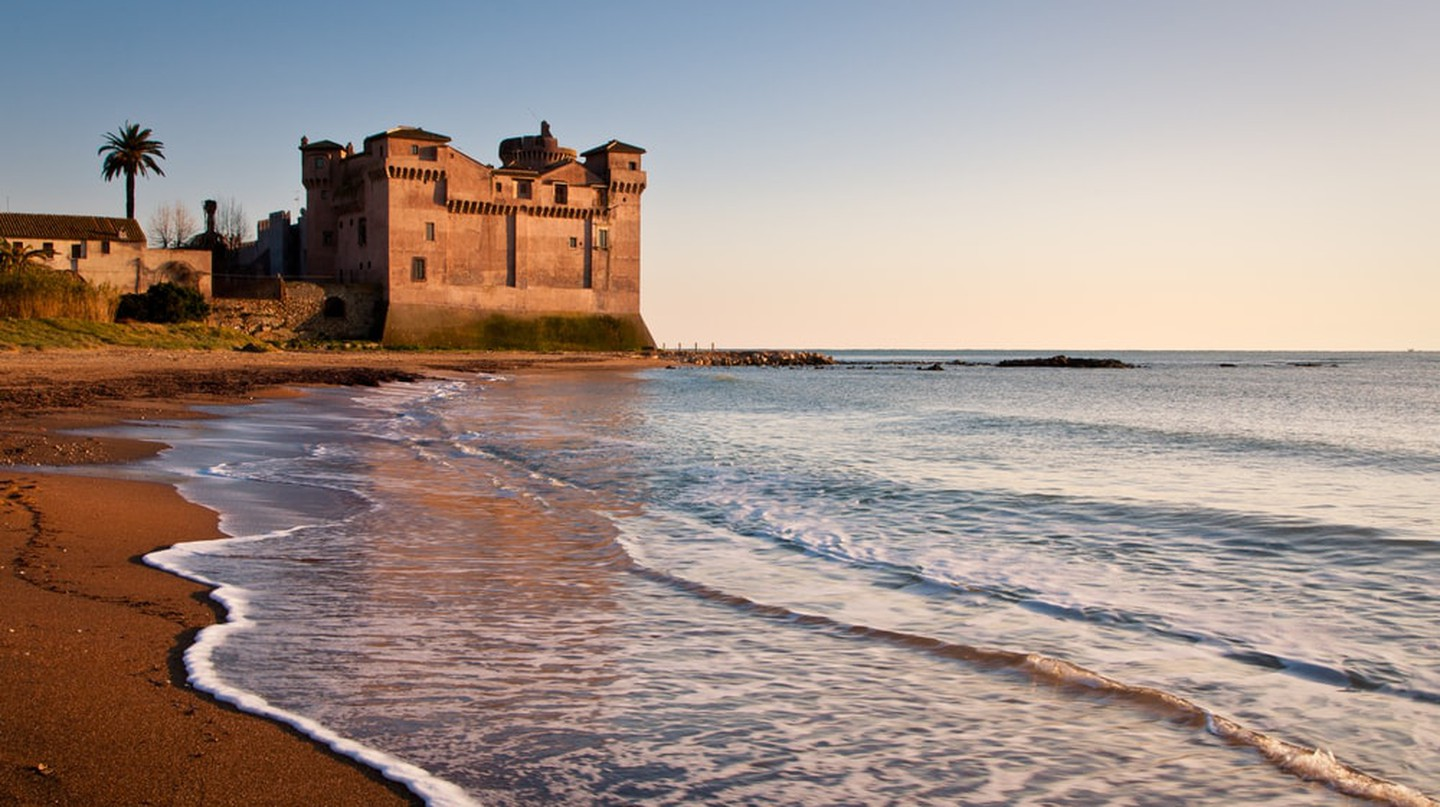 Santa Severa is a popular beach resort in Lazio, Italy