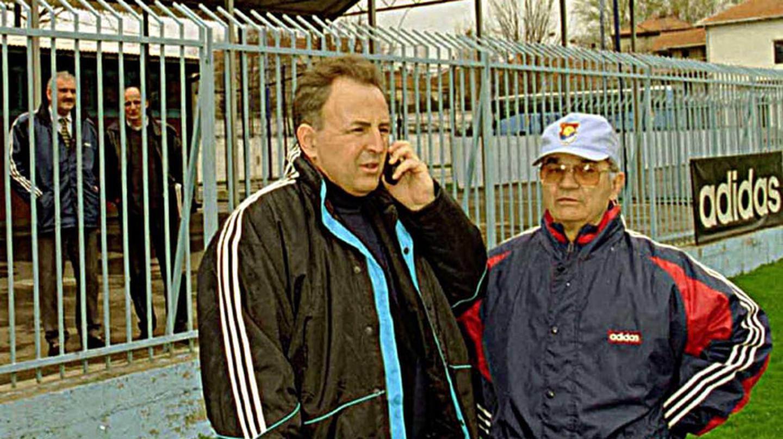 One of the world's most infamous war criminals, Zeljko Raznatovic visits his soccer team in the Yugoslavian capital Belgrade