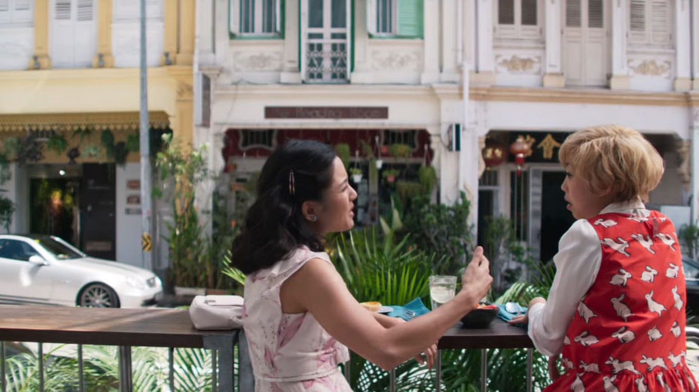 Constance Wu and Awkwafina in Crazy Rich Asians