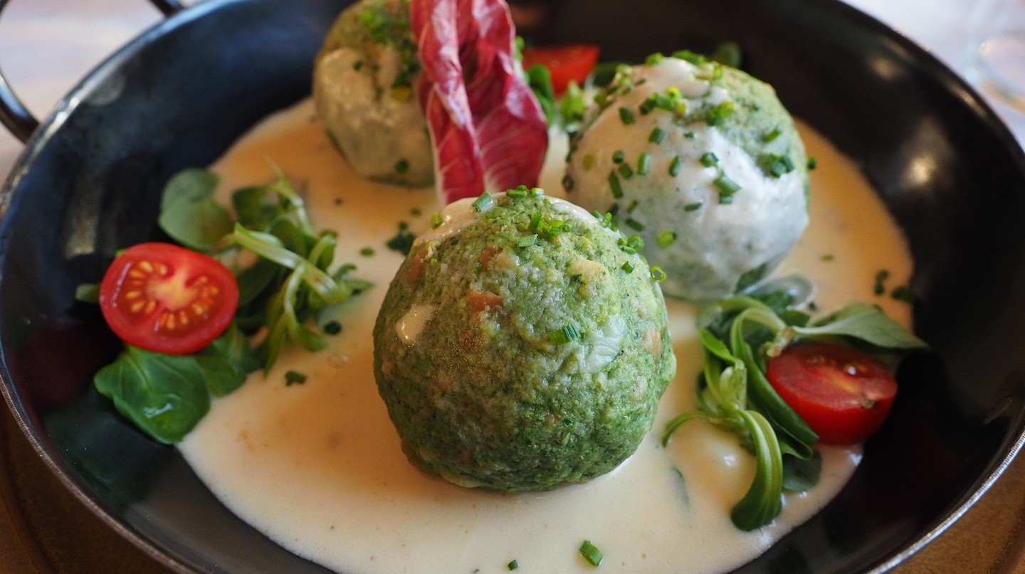 Spinach dumplings, a traditional Austrian recipe