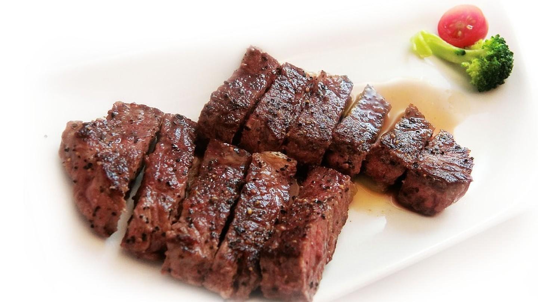 Delicious seasoned steak