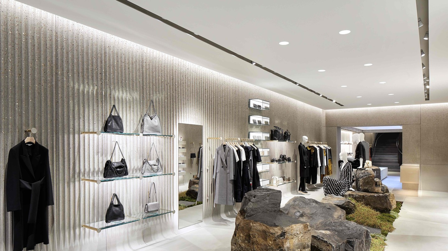 Stella McCartney flagship store interior, London, 2018