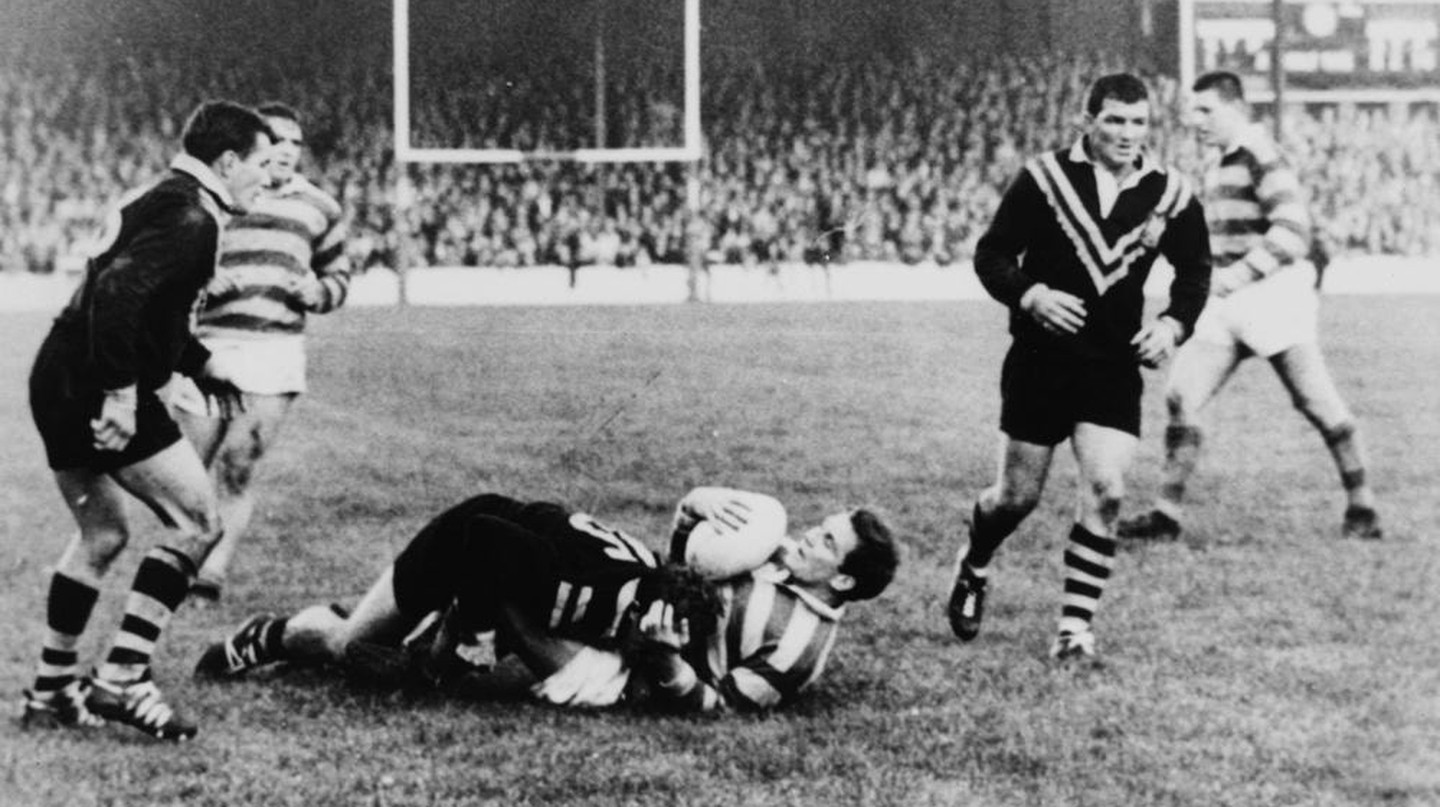 The Australian Rugby League Team plays Great Britain in 1932