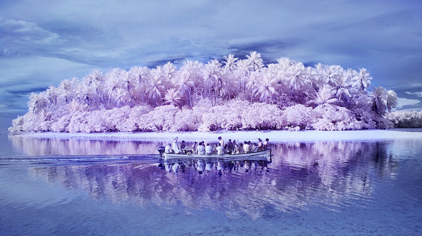 A picture taken with an infrared camera