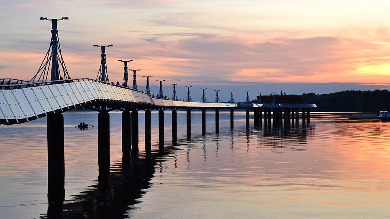 Pier in Płock, Poland