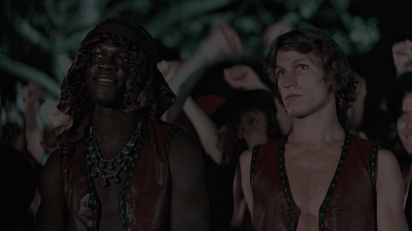 """Dorsey Wright and Michael Beck in """"The Warriors"""""""