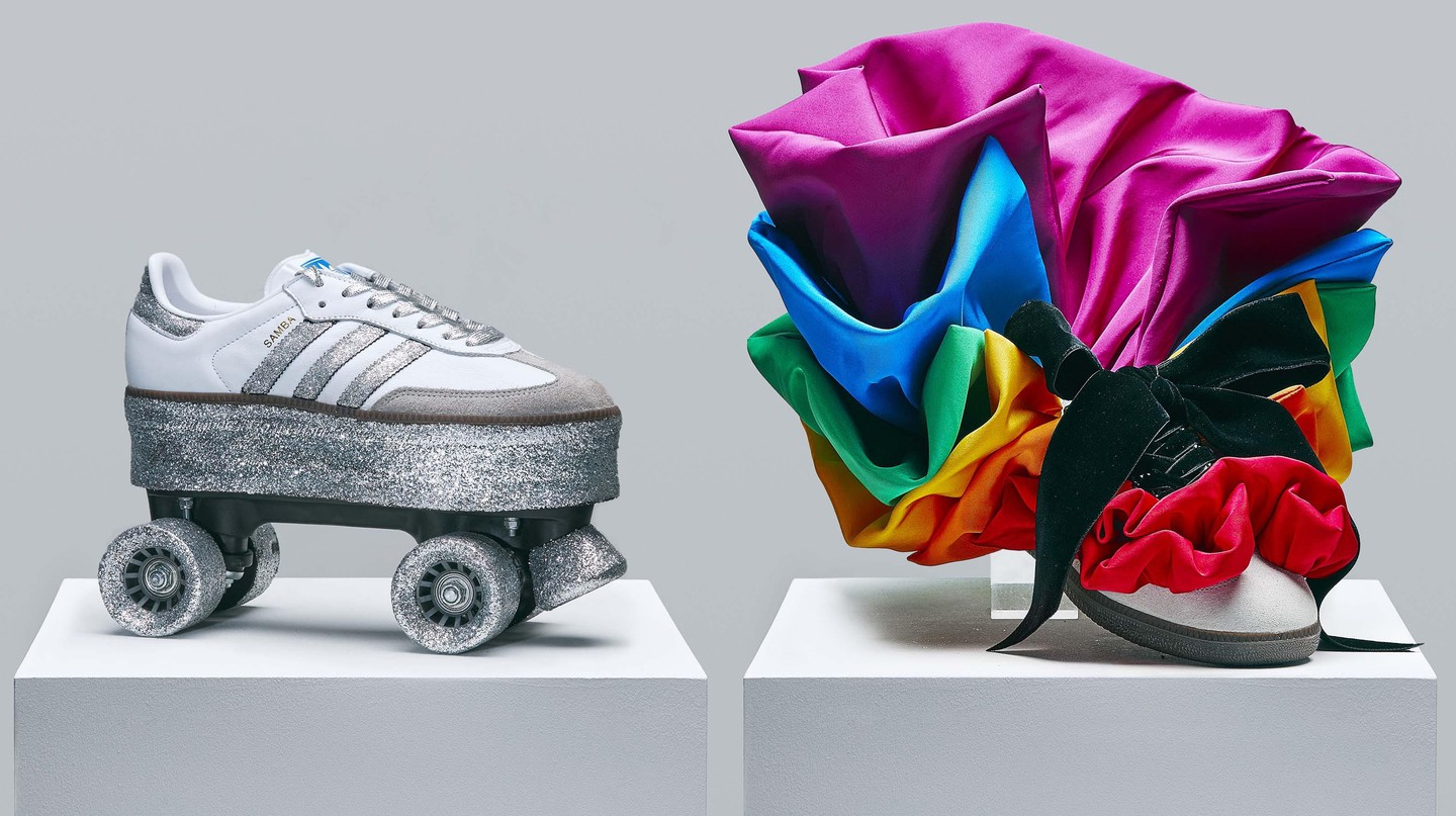 Adidas Prouder campaign, 2018. Samba trainers designed by celebrities